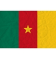 Cameroon paper flag vector image