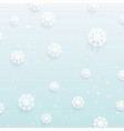 christmas snowflake background design vector image vector image