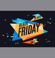 colorful banner with text black friday vector image vector image