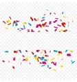 Colorful Confetti isolated on white Confetti vector image vector image
