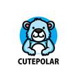 cute polar bear cartoon logo icon vector image