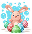 cute rabbit princess - cartoon vector image vector image
