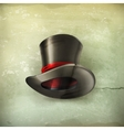 Cylinder hat old style vector image vector image