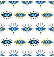 decorative blue evil eyes symbol pattern vector image vector image