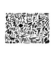 doodle wavy brush strokes hand drawn collection vector image