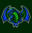 dragon mascot vector image