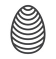 easter egg line icon easter and holiday vector image