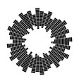 equalizer music sound wave circle symbol vector image vector image