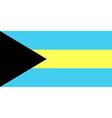 Flag of the Bahamas vector image