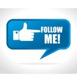 Follow me social network theme vector image