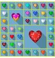 gems heart vector image vector image