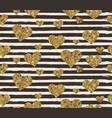 gold glittering heart confetti seamless pattern vector image