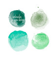 green colors watercolor paint stains vector image