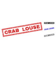 grunge crab louse textured rectangle watermarks vector image vector image