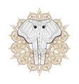 hand drawn entangle ornamental elephant vector image vector image