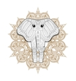Hand drawn zentangle Ornamental Elephant on vector image vector image