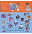 Hipster infographic set vector image vector image