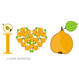 i love quinces vector image vector image