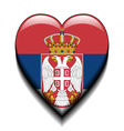 I love Serbia vector image