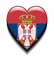 I love Serbia vector image vector image