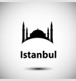 istanbul turkey detailed silhouette vector image vector image