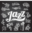 Jazz Chalkboard Set vector image