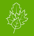 leaves icon green vector image vector image