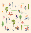 lovely summer landscape pattern with group of vector image vector image