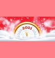 new year winter clock 2021 christmas holiday vector image vector image