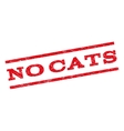 No Cats Watermark Stamp vector image vector image
