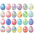 Pastel eggs vector image