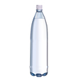 plastic water bottle vector image vector image