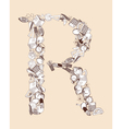 R School alphabet letter vector image vector image