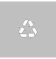 Recycling computer symbol vector image vector image