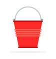 red bucket to extinguish fire vector image vector image
