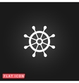 rudder web flat icon vector image vector image