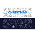 set 2 christmas outline banners xmas vector image vector image