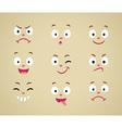 set cartoon emotional faces vector image