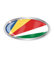 seychelles flag oval button vector image vector image