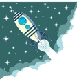 Space rocket in flight vector image vector image