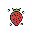 strawberry food fruit berry flat color icon icon vector image