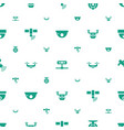 surveillance icons pattern seamless white vector image vector image
