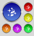 Tape icon sign Round symbol on bright colourful vector image vector image