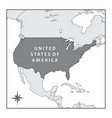 the map of usa vector image