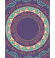 Tribal Bohemian Mandala background with round vector image vector image