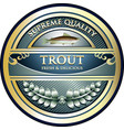 trout gold icon vector image vector image