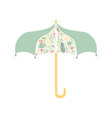 umbrella decorated with floral seamless pattern vector image vector image