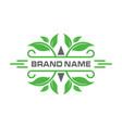 vintage leaf logo vector image