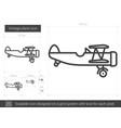 vintage plane line icon vector image