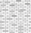 wall of white bricks and gray vector image